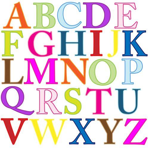 Alphabet Letters Colorful