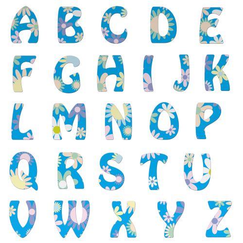 Alphabet Letters Floral