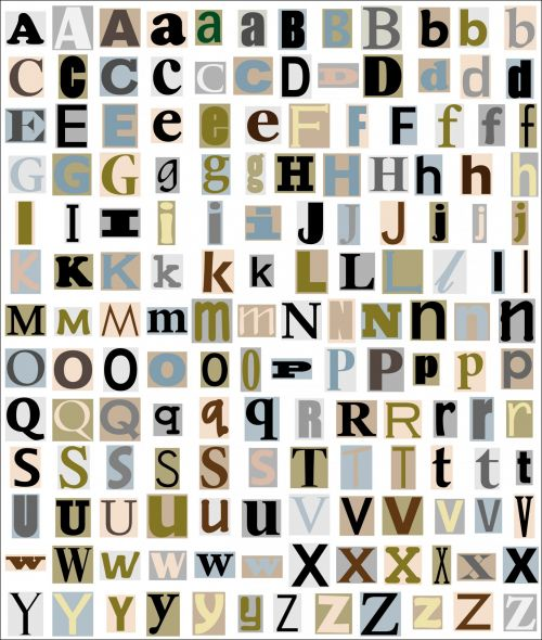 Alphabet Letters From Magazine