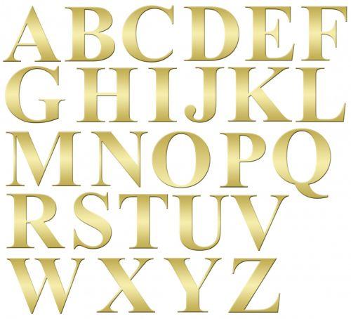 Alphabet Letters Gold Clip-art