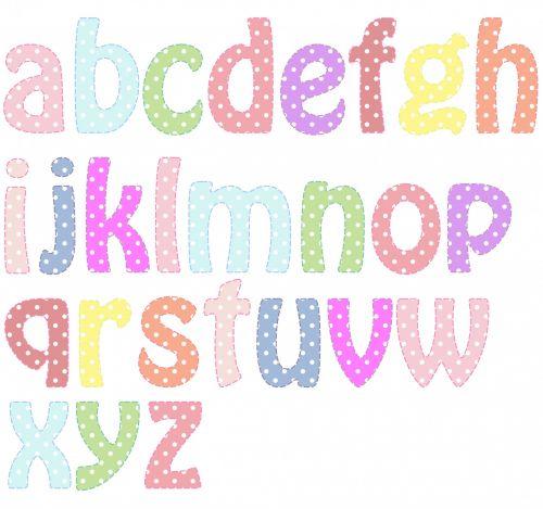 Alphabet Letters Pastel Colors