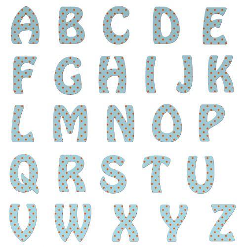 Alphabet Letters Polka Dots