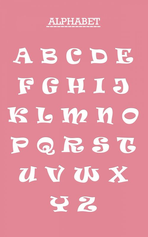 Alphabet Letters Set