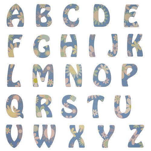 Alphabet Letters Vintage Floral