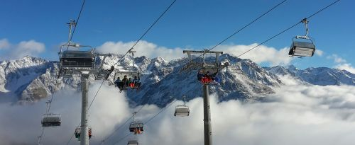 alpine ski area chairlift