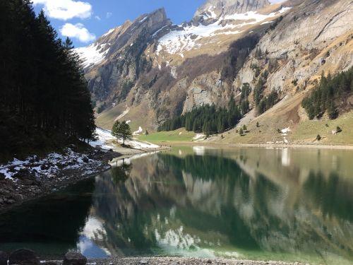 alpine lake spring