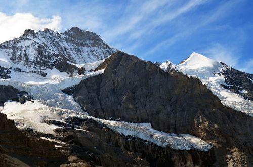 alpine high alps glacier
