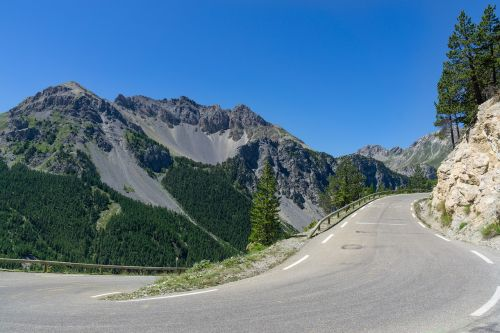 alpine road landscape