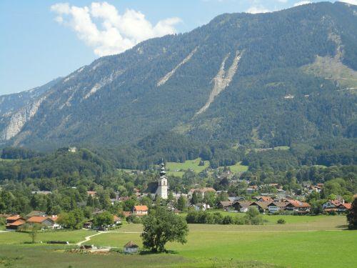 alpine village mountains