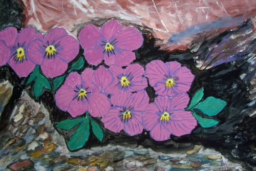 alpine flowers painting