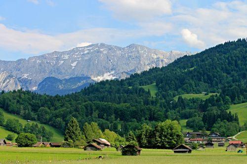 alpine upper bavaria mountains