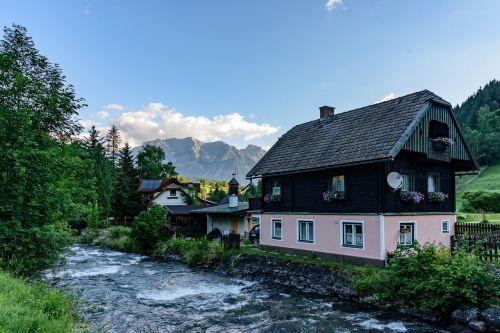 alpine village panorama