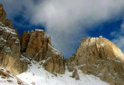 alpine mountains snow