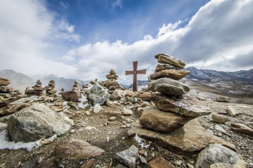alpine summit mountains