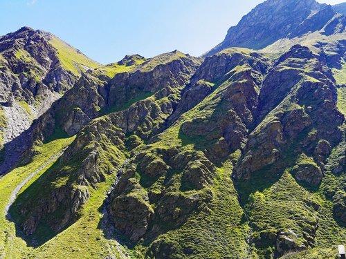 alpine  rock formation  schroff