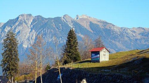 alpine  late autumn  mountains