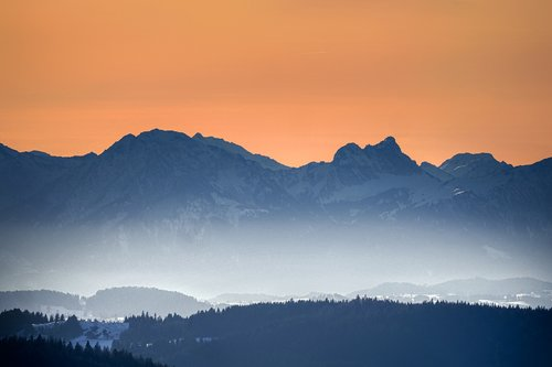 alpine  mountains  panorama