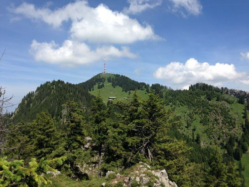 alpine mountain greened