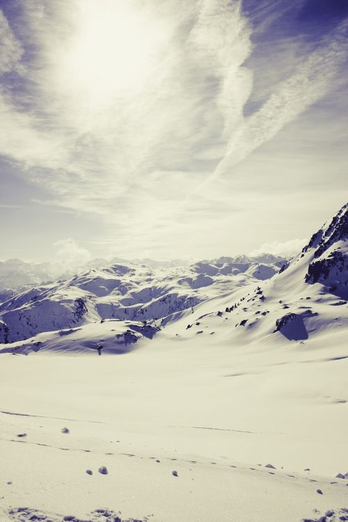 alpine snow landscape