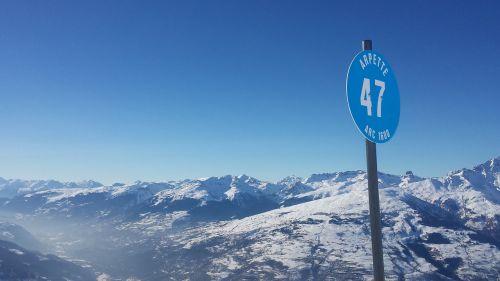 alpine mountains blue slopes
