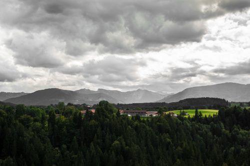alpine clouds autumn