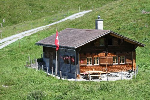 alpine hut meiringen mountains