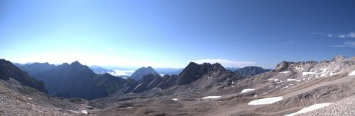 Alpių panorama,zugspitze,mėlynas,Alpių,dangus,gamta,kraštovaizdis,tolimas vaizdas,debesys,mėlynas dangus,kalnai,kalnų peizažas,aukščiausiojo lygio susitikimas,Zugspitze kalnas,vaizdas,perspektyva,Vokietija,įvedimas,Rokas,bavarija,panorama,zugspitze masyvas,aukščiausių kalnų