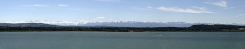 alpine panorama  alpine  lake biel