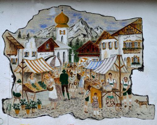 alpine village store front german town