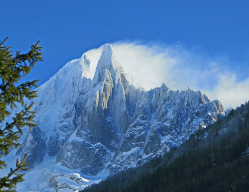 alps chamonix needle of the drus