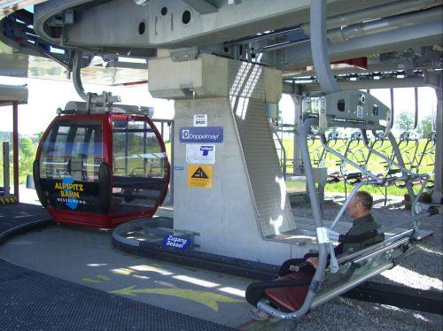 alpspitzbahn bottom station combining ground