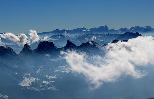 alpstein mountains panorama