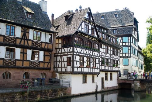 alsace strasbourg timbered house