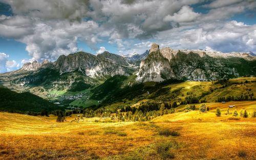 alta badia dolomites mountains