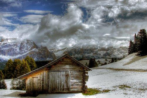 alta badia  winter  snow