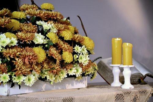 altar  altar jewelry  autumn flowers
