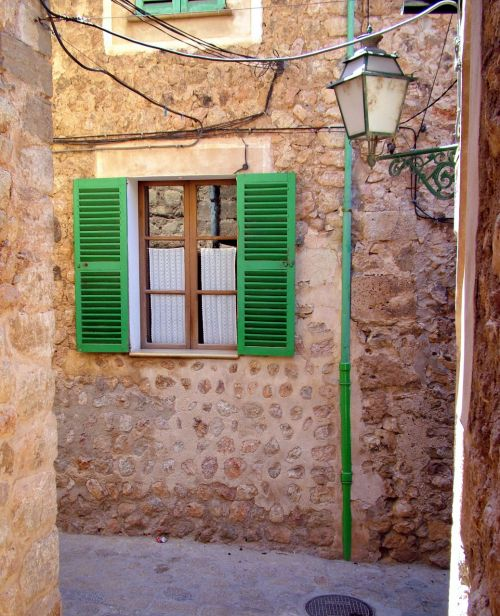Old Lantern And Shutters