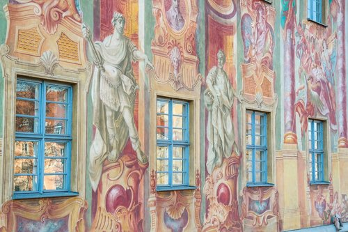 altes rathaus of bamberg  frescos  illusion painting