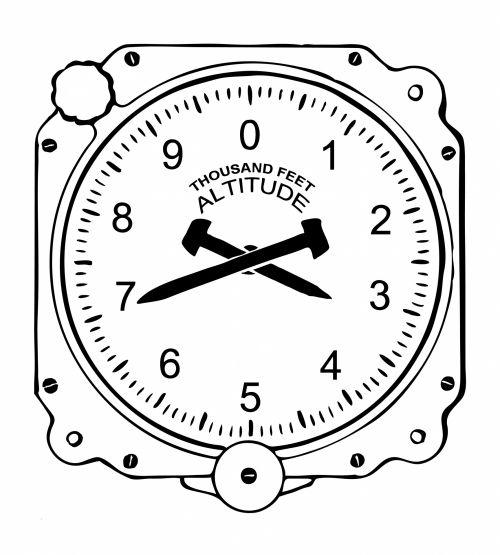 Altimeter Dial Clipart