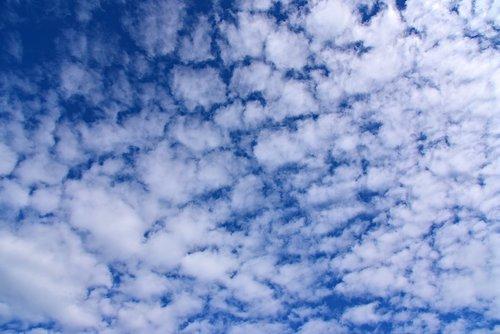 altocumulus  clouds  sky