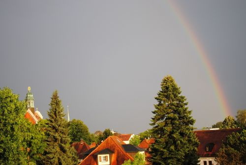 altötting thunderstorm rainbow