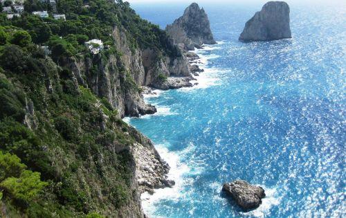 amalfi coast cliff italy