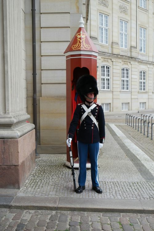 amalienborg royal castle royal guard