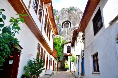 amasya old town old wooden houses