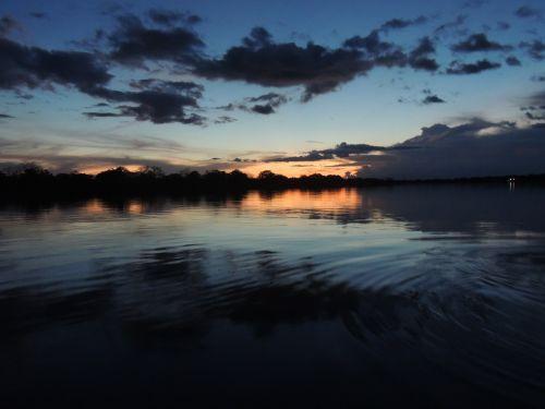 amazon sunset river