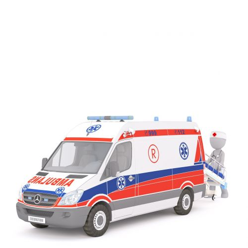 ambulance first aid white male