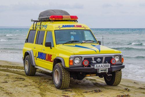 ambulance beach emergency