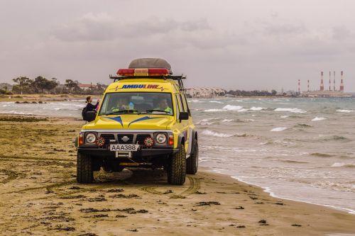 ambulance patrol beach