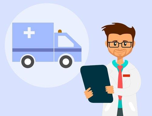 ambulance  doctor  car