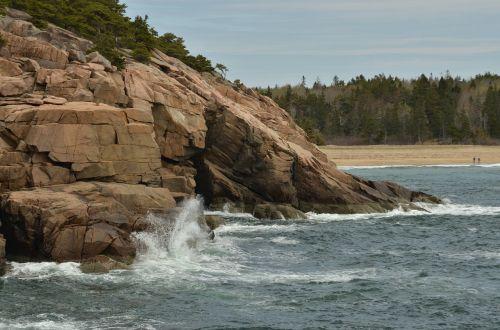america acadia national park rock
